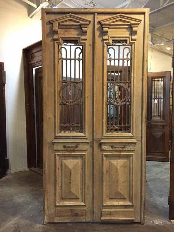 Antique Interior doors - Buy Pair of antique narrow double doors with  ironwork. Browse the - Antique Interior Doors - Buy Pair Of Antique Narrow Double Doors