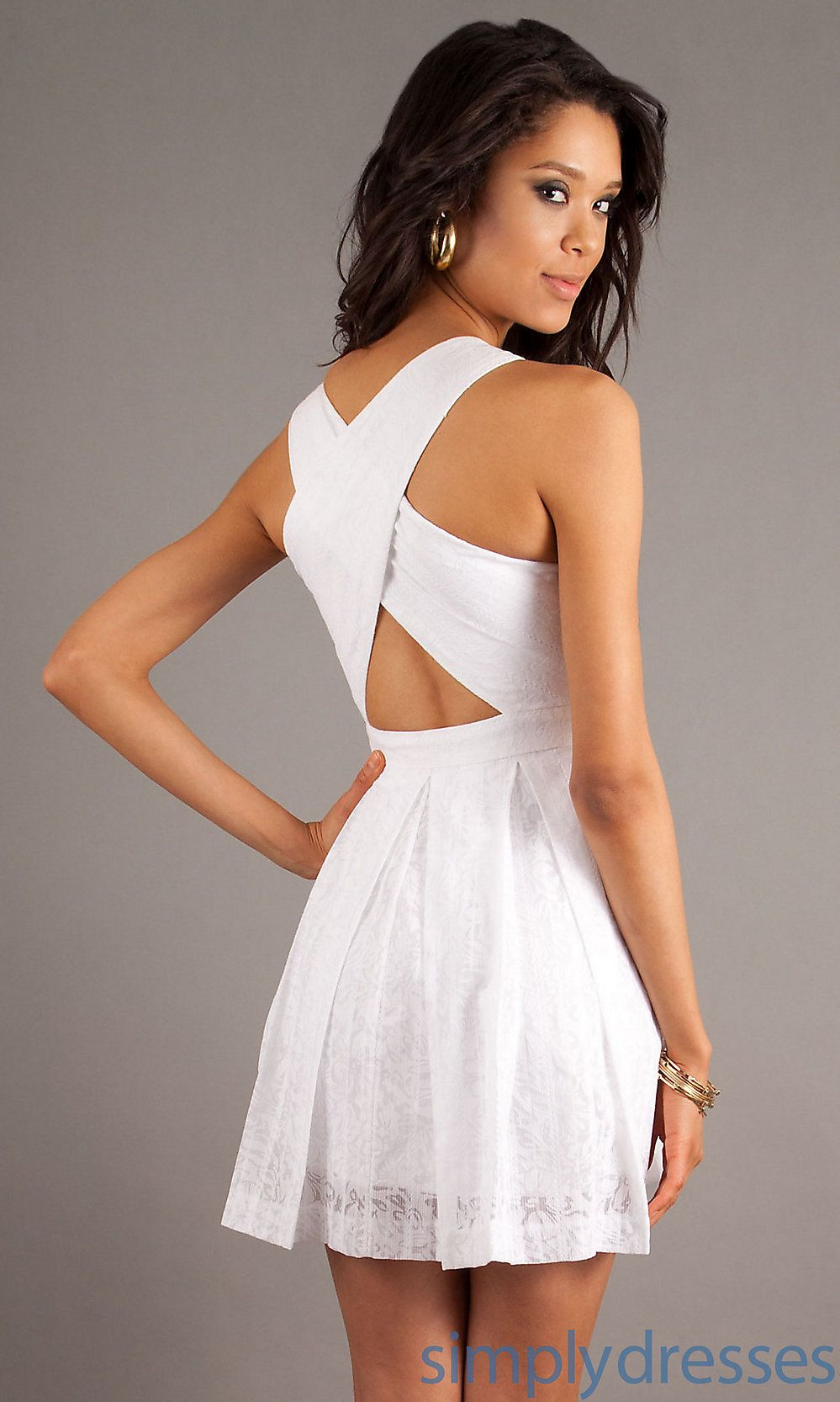 White formal dresses   White dresses   Pinterest   Short white ...