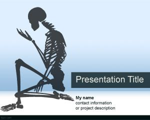 Skeletal system powerpoint template for anatomy projects for Anatomy ppt templates free download