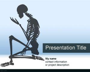 Skeletal system powerpoint template for anatomy projects life science skeletal system powerpoint template toneelgroepblik Choice Image