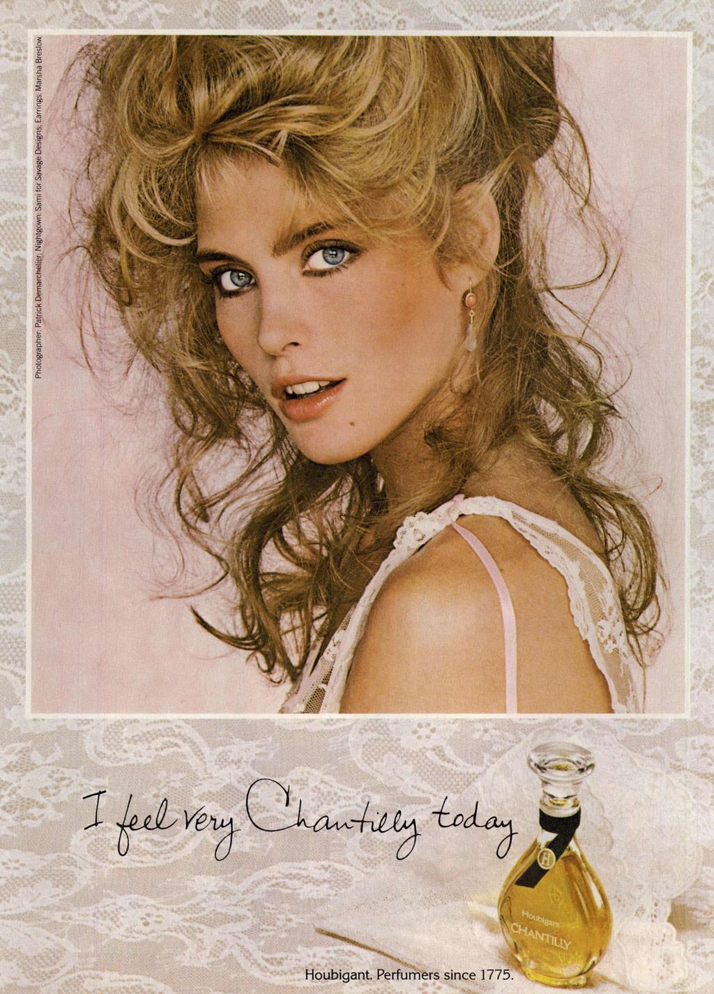 Houbigant Ad Campaign Chantilly - I feel very Chantilly today - love it