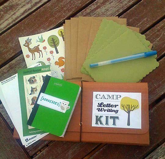 Diy Camp Letter Writing Kit  Camp Letters Camping And Camp Care