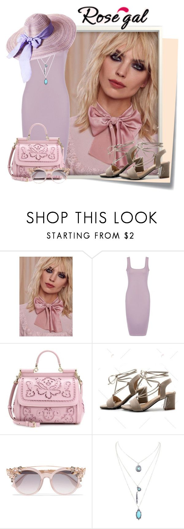"""rosegal 28"" by elenb ❤ liked on Polyvore featuring Post-It, Lena Bernard, Dolce&Gabbana, Jimmy Choo, dress, women and rosegal"