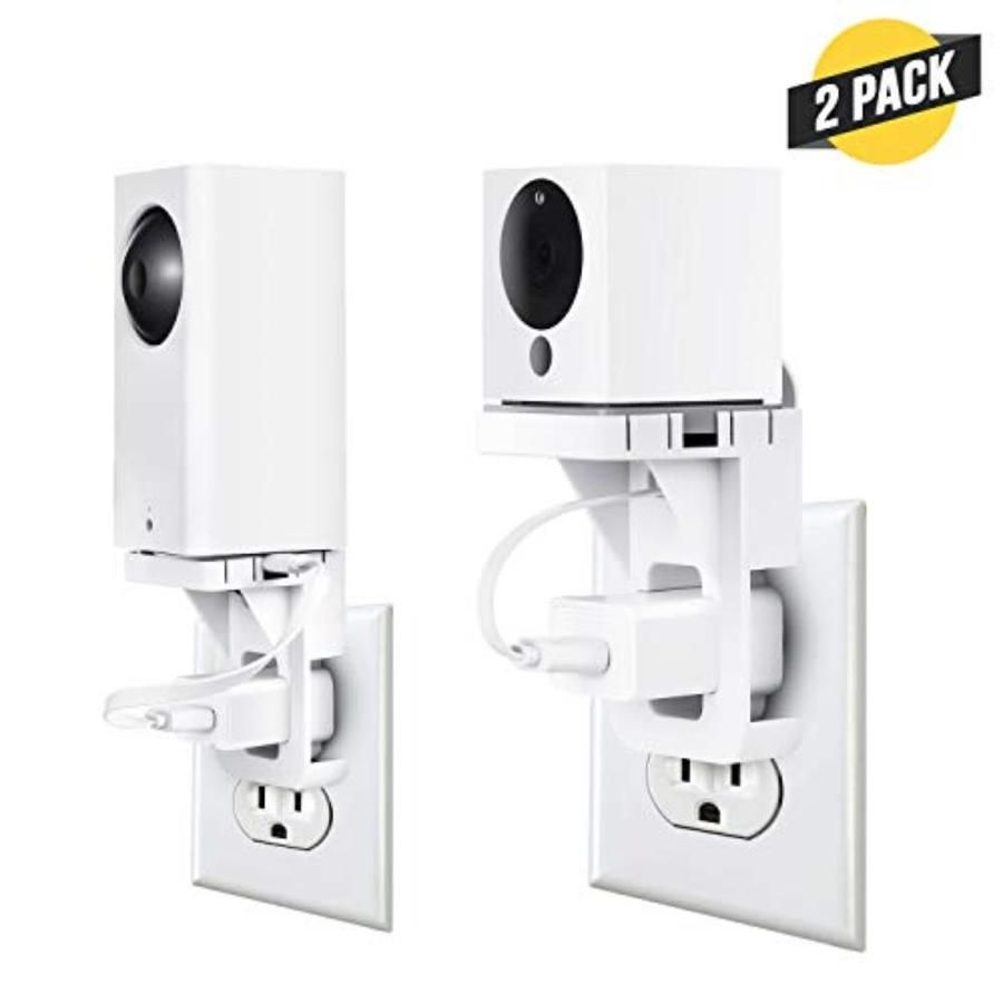 ✔ VERSATILE MOUNTING - The Wasserstein AC Outlet Mount compatible with Wyze Cam and Wyze Cam Pan lets you place your surveillance camera anywhere in your home without having to worry about cable mess or wall damage. ✔ NO CABLE MESS - By mounting your Wyze Cam/Wyze Cam Pan directly to an AC outlet in your home, you say goodbye to any cable mess, freeing up space and providing much cleaner look. ✔ EASY INSTALLATION - Installation is as easy as 1-2-3. Our AC Outlet Mount requires neither drilling h