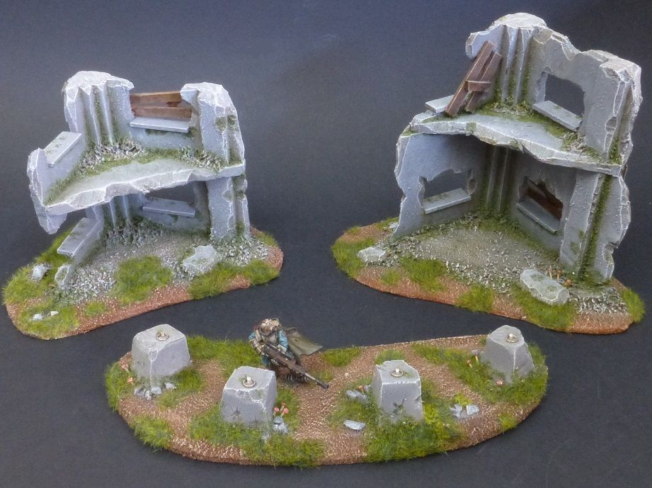 Wargame terrain scenery building ruins dragon teeth for Decor 40k