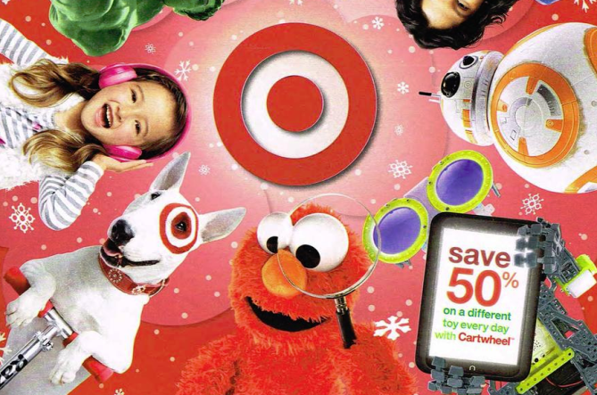 Toy book leaked plus 50% toy cartwheel's once a day to start 11/1 along with free shipping
