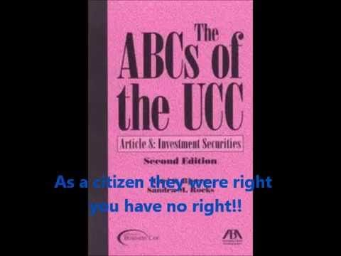 1 Ucc Codes For Dummies 101 The Law Is For Sovereigns Loud