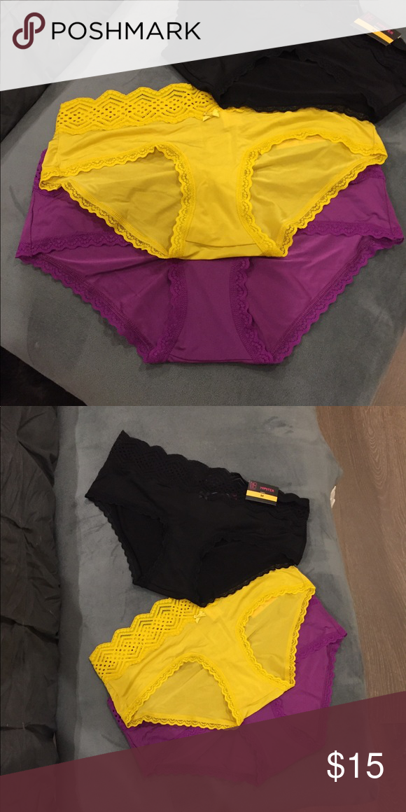 4567d51619ac No boundaries hipster sz M NWT 3 pairs Purple yellow and black hipster  panties new with tags 3 for $15 No Boundaries Intimates & Sleepwear Panties