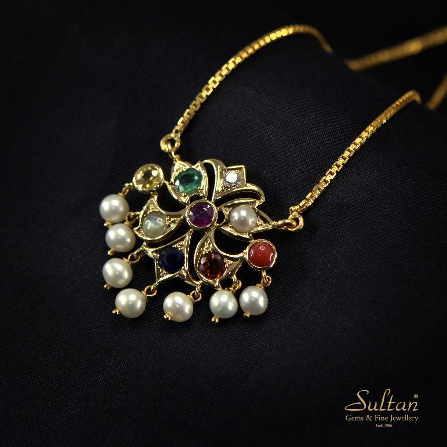 Sultan custom designed handmade fine jewellery navratna