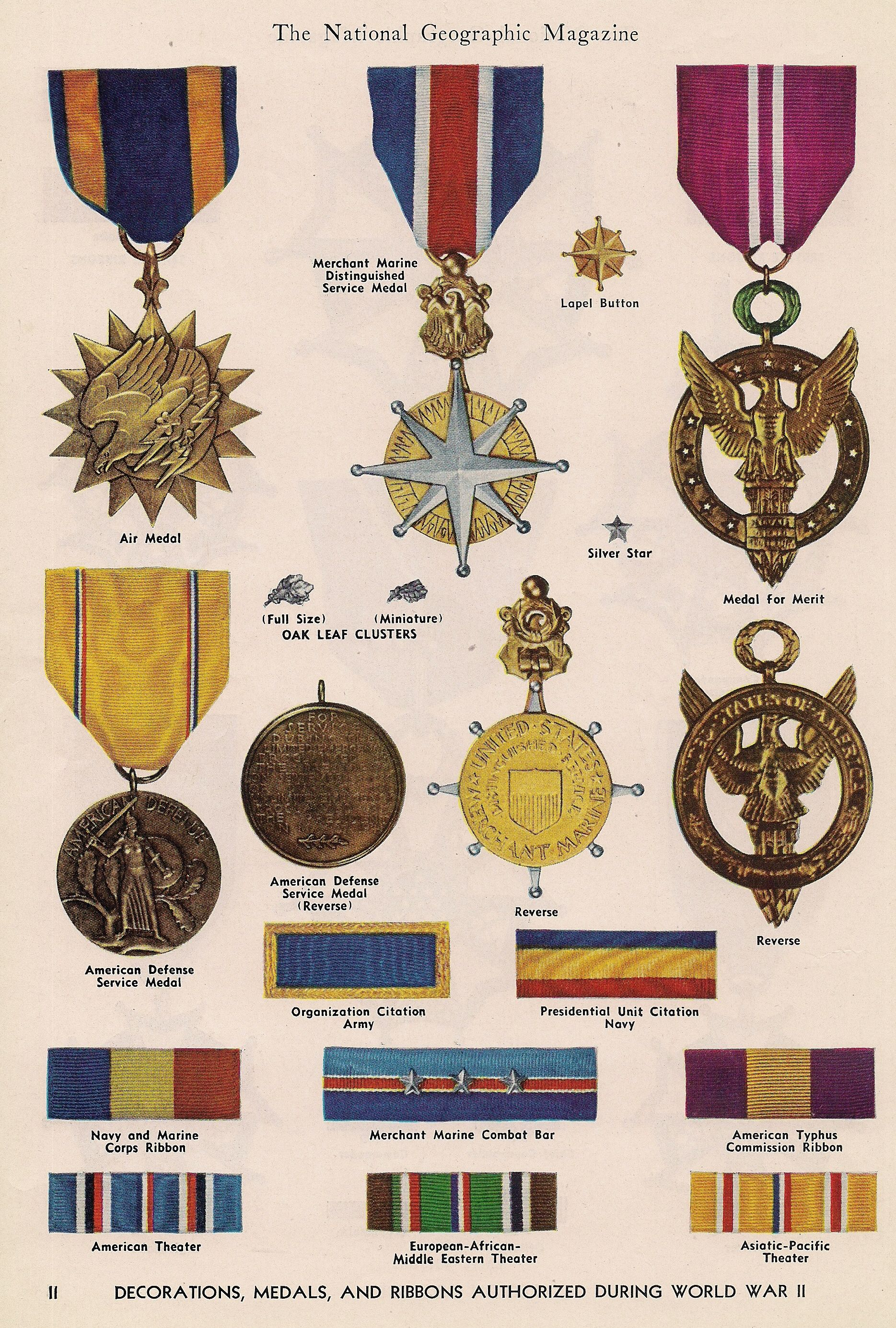 Decoration Americaine Militaire Decorations Medals And Ribbons Authorized During World War