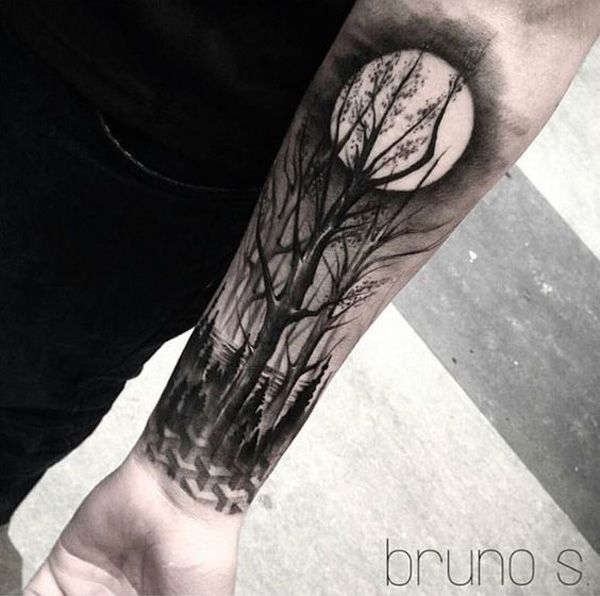 45 Inspirational Forest Tattoo Ideas Tatuajes Tatuajes