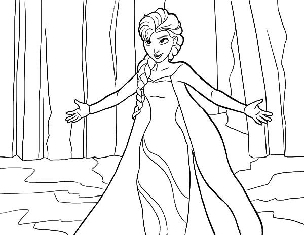 Let It Go Queen Elsa Coloring Pages Coloring Sky Frozen Coloring Pages Elsa Coloring Pages Elsa Coloring