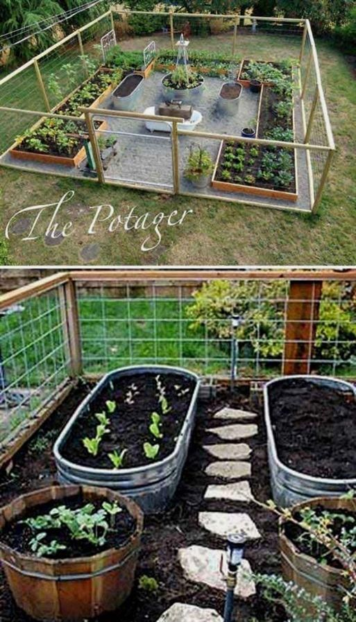 Easy DIY Low Maintenance Garden | Vegetable Garden Design, Diy Raised Garden, Garden Fencing