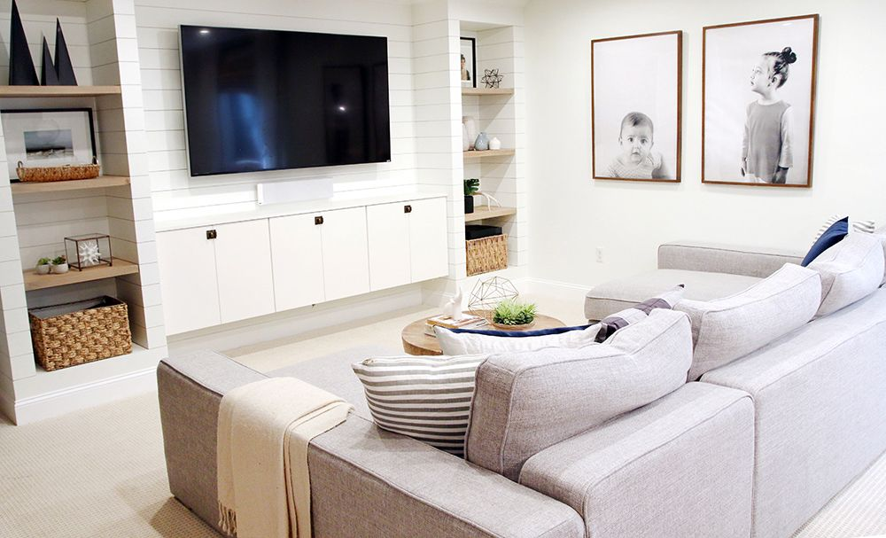 before and after: our basement family room is finished! | basement