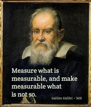 Measure what is  measurable, and make  measurable what   is not so. / Galileo Galilei ~ 1615