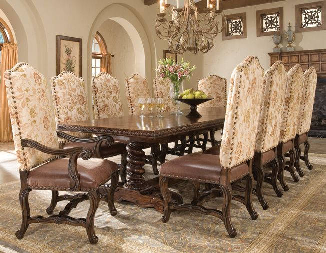 Hand Carved Dining Table Traditional Dining Room Table Dining