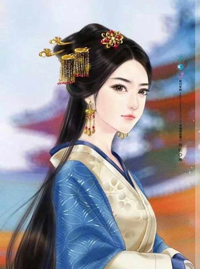 Chinese Painting Art Fantasy Anime Characters Asian Beauty Woman Drawing China