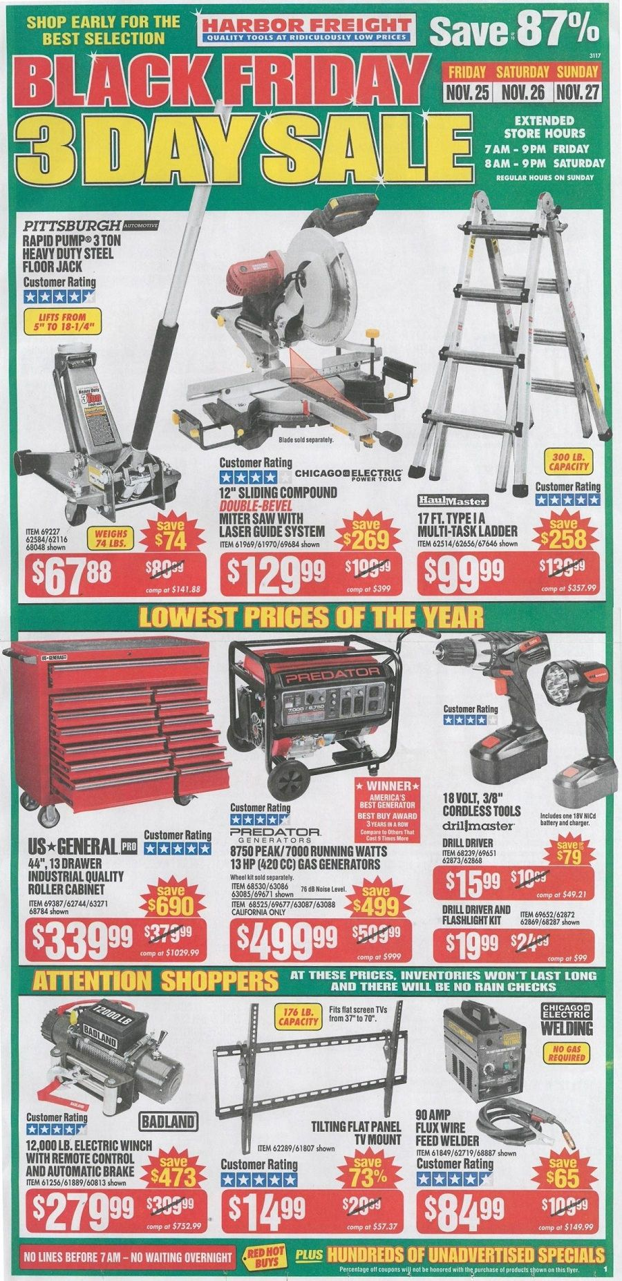 Harbor Freight Tools 2018 Black Friday Ad | Online Shopping