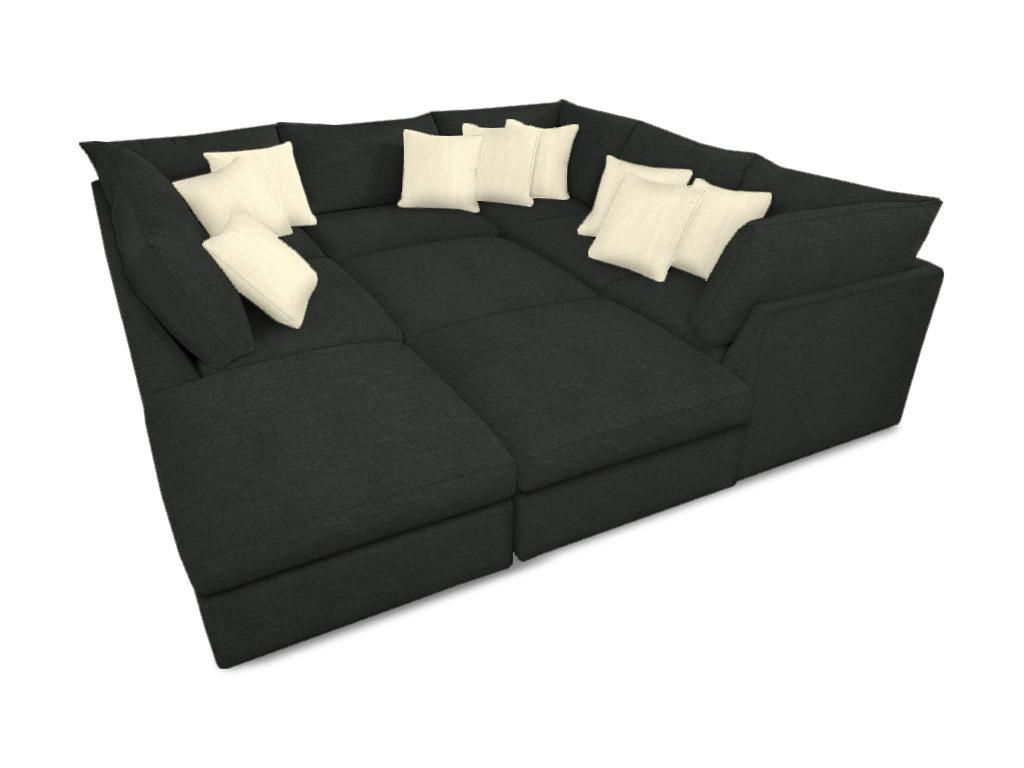 No one makes a fabulous pit modular sectional like bassett the best for basement family hangouts