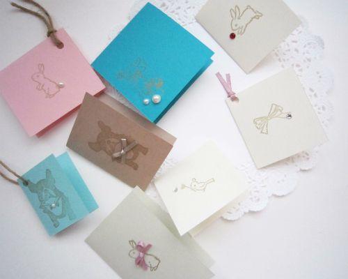 製作時間1分!残った紙の切れ端で超簡単にミニカードを手作り | 女性の美学