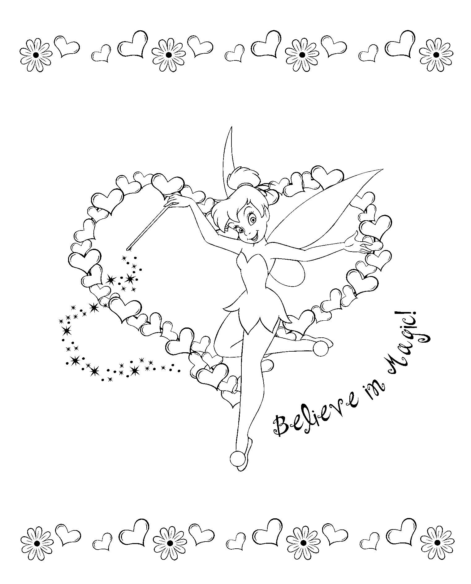 tinkerbell coloring pages tinkerbell coloring pages pinterest