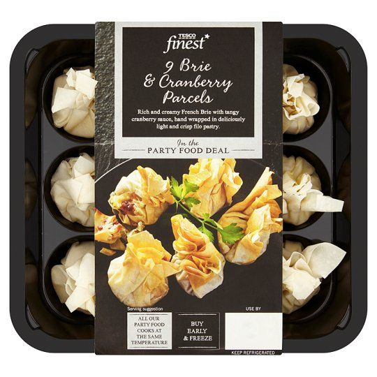Finest 9 Brie And Cranberry Parcels 198g Tesco Food Tesco