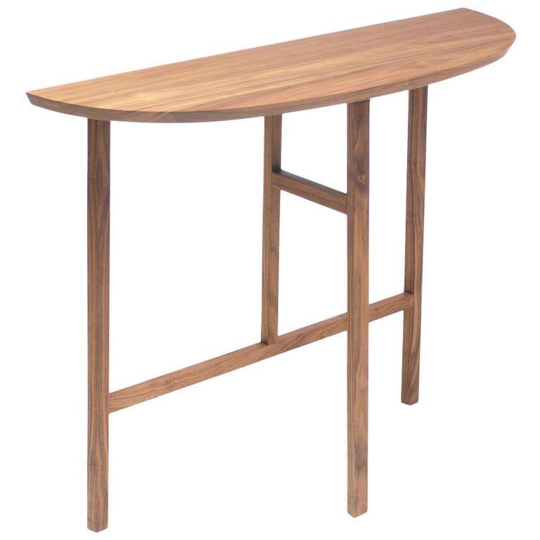 Trio Console Side Table Standard Danish-oiled Walnut Dark Wood