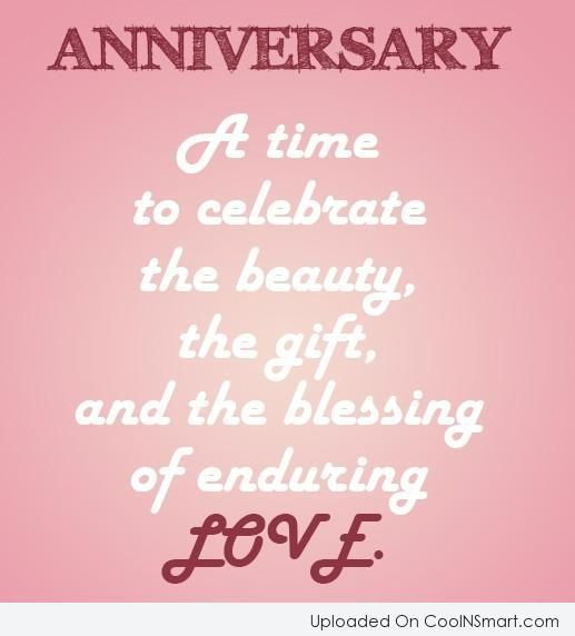 Beautiful Quotes For Wife On Wedding Anniversary: Anniversary Quote: Anniversary: A Time To Celebrate The