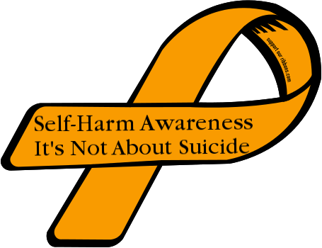 Custom Ribbon: Self-Harm Awareness / It's Not About Suicide