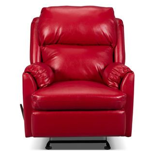 Drogba Faux Leather Reclining Chair Red Leather Recliner