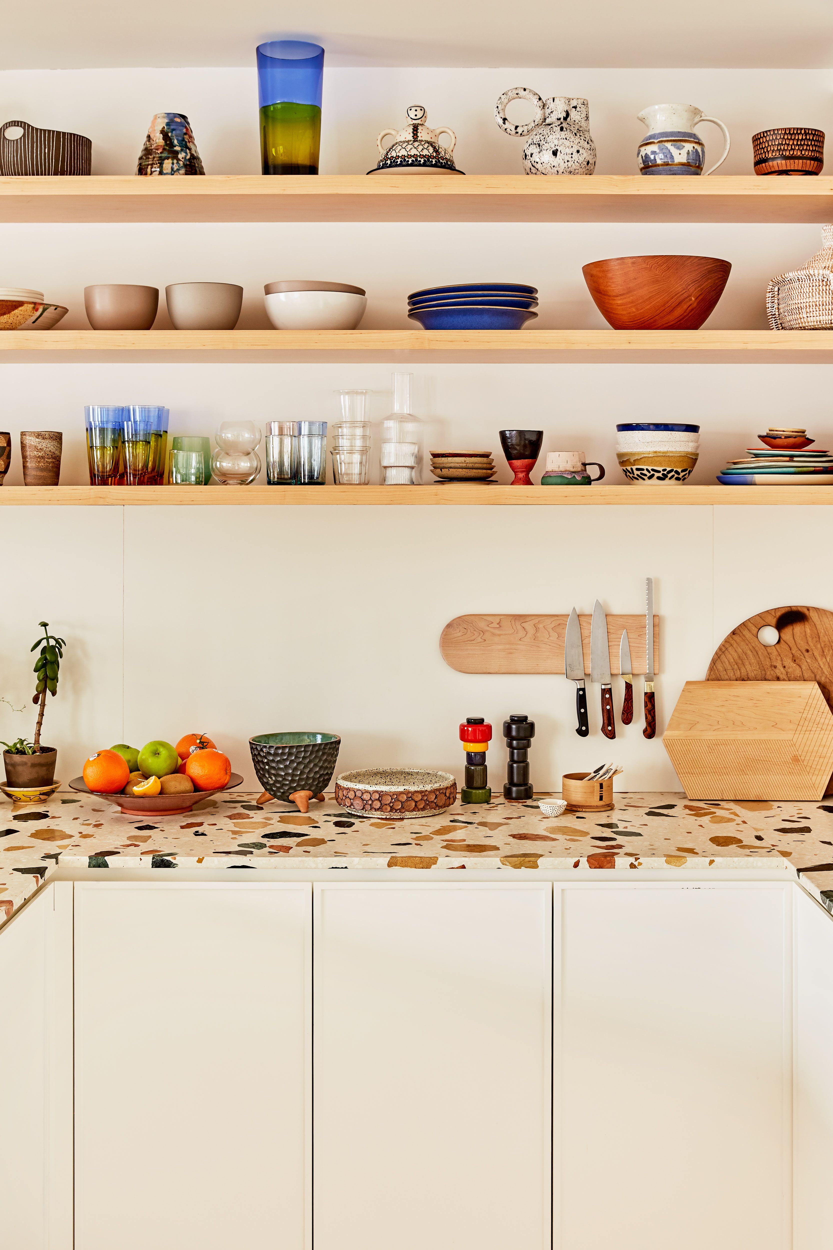 Tour Caitlin Mociun S Brooklyn Home Terrazzo Eclectic Kitchen Kitchen Interior Design Modern