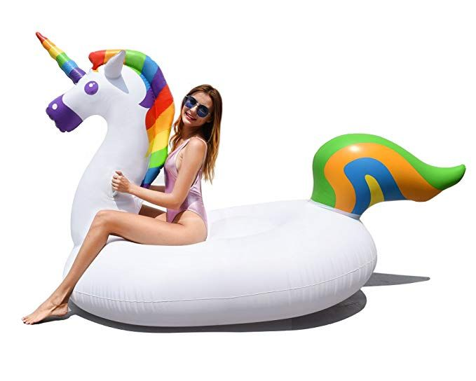 Awesome Gaboss Giant Unicorn Pool Float Rideable Lounge Raft Creativecarmelina Interior Chair Design Creativecarmelinacom