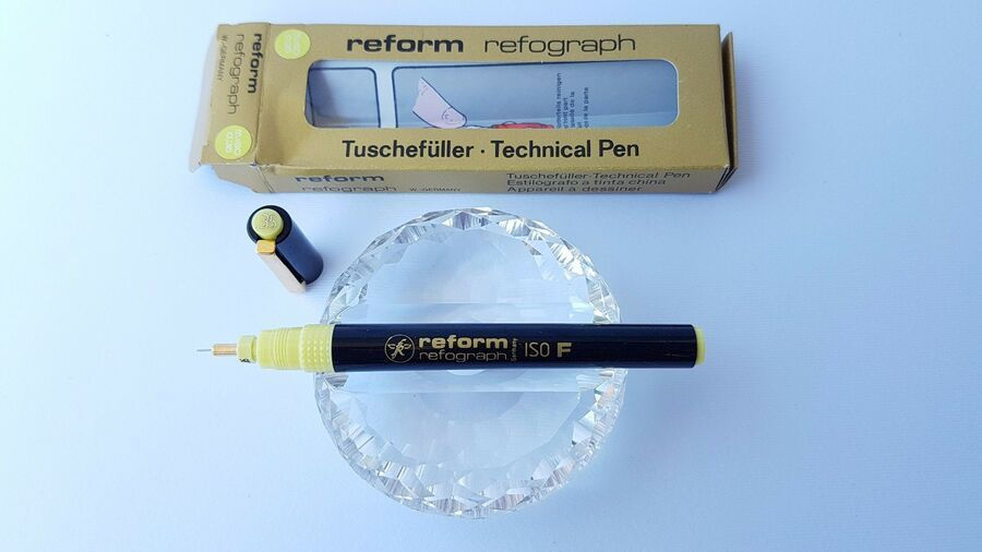 Tuschefüller made in W Technical Pen Reform Refograph ISO F 0.35 mm Germany!