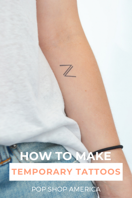 Want to make your own Custom Temporary Tattoos? It's