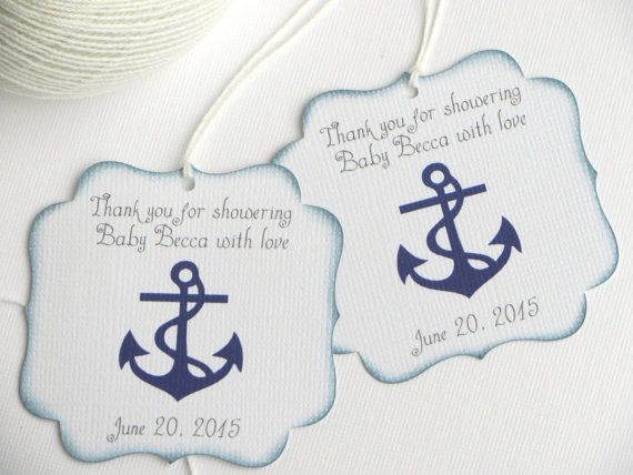 Nautical Baby Shower Favor Tags Navy Blue Baby By Wildsugarberries