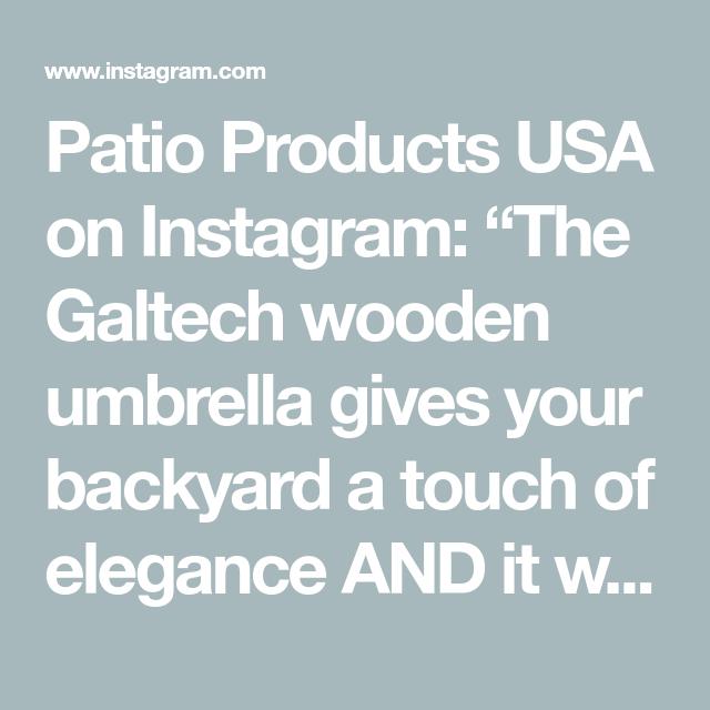 The Galtech Wooden Umbrella