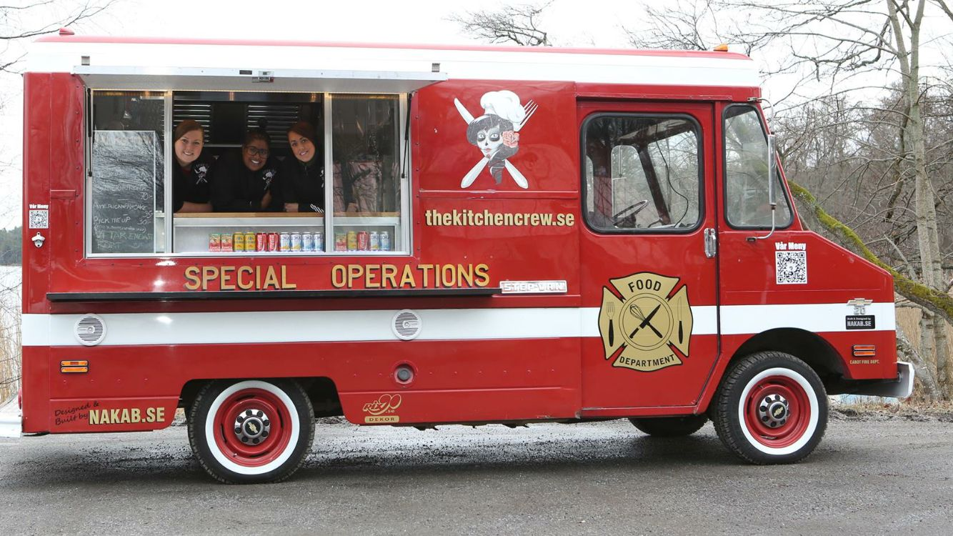 The Kitchen Crew Food Truck An Old Fire Dept Thats Now