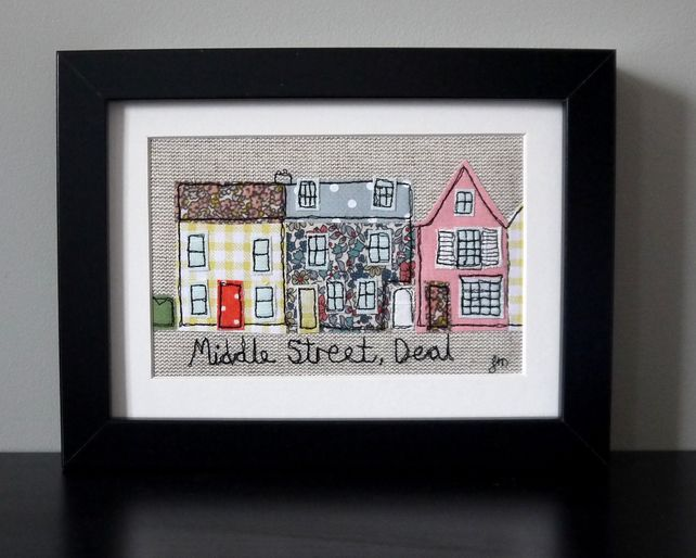 Framed freestyle machine embroidery middle street deal kent
