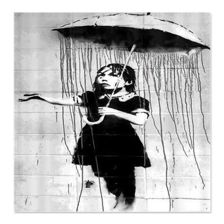 Banksy Shower Curtain
