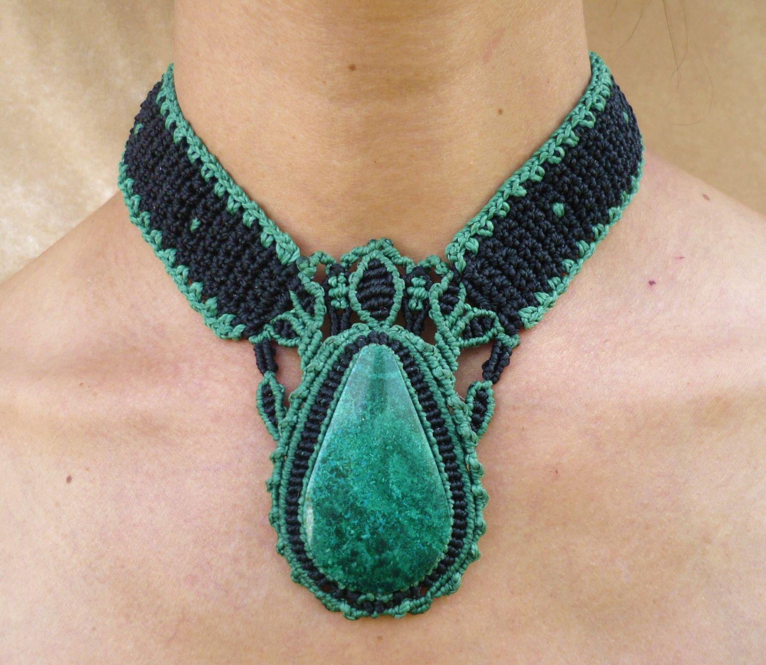 Collares de moda con piedras 1547 1344 macrame - Piedras para collares ...