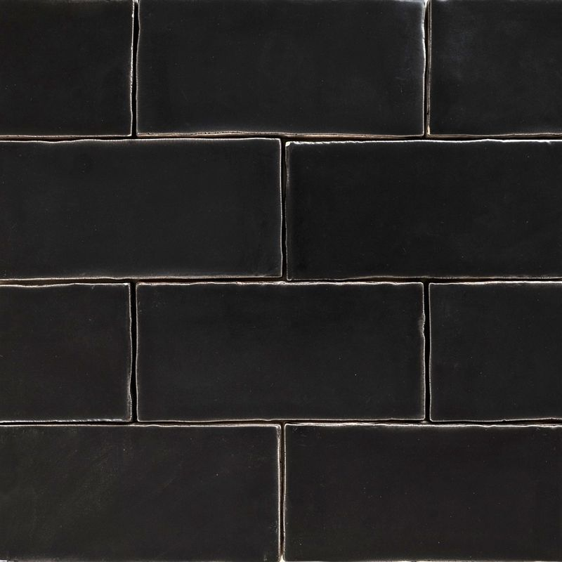 Black Subway Tile handmade black matt natura wall subway tiles 130×65 in stretcher