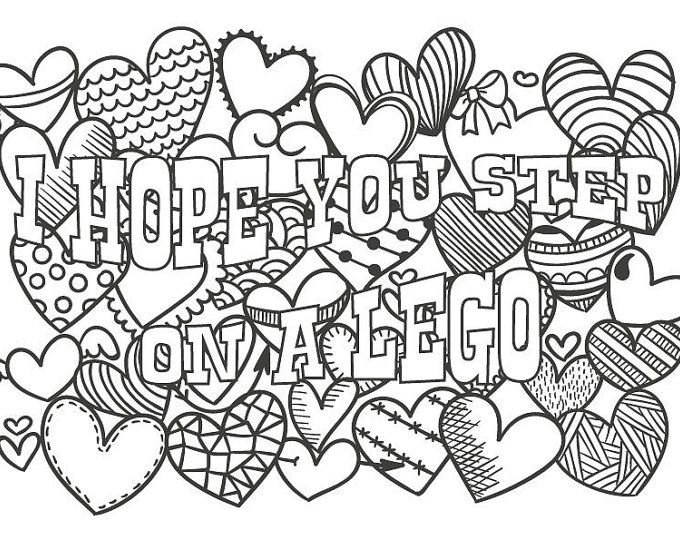 Adult Cursing Coloring Pages