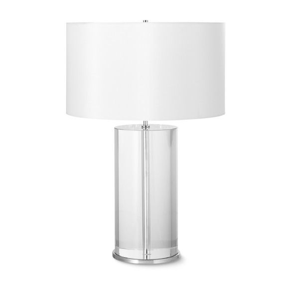 Crystal Cylinder Table Lamp Tall Table Lamp Lighting Crystal Table Lamps Lamp