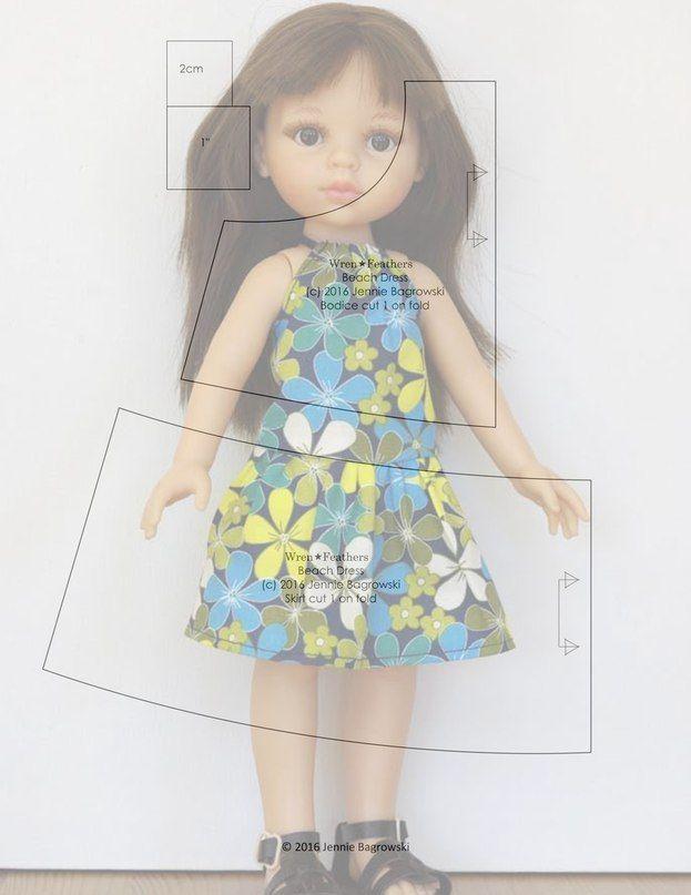 Альбом №4 Выкройки для куклы П.. | kimono | Pinterest | Muñecas ...