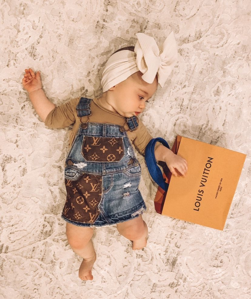 LV dress  Baby girl outfits newborn, Louis vuitton baby clothes