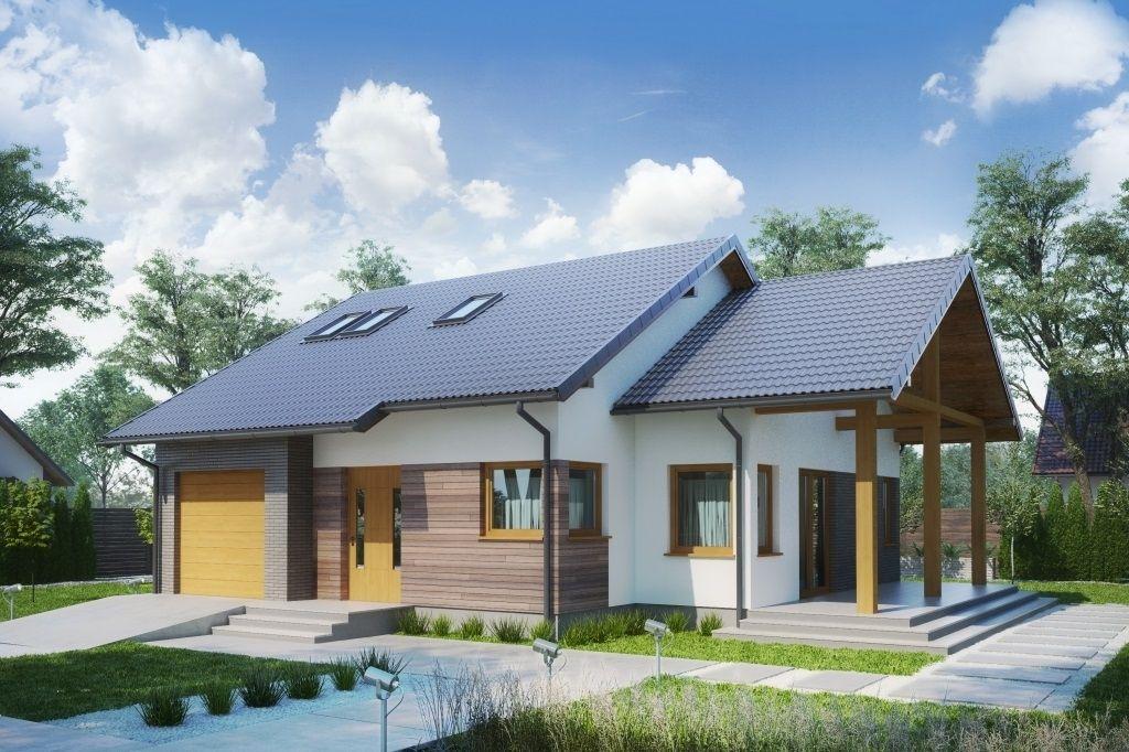 Деревянные одноэтажные дома с гаражом фото