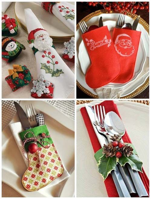 Christmas Table Decorations \u2013 ideas for decoration , tableware and