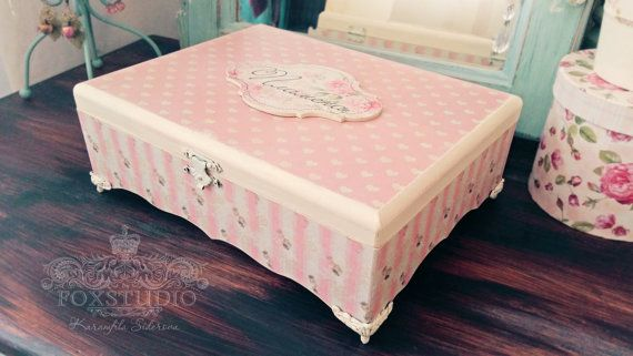 Personalized Romantic Baby Box Baby Girl Memo Box Pink Shabby Baby