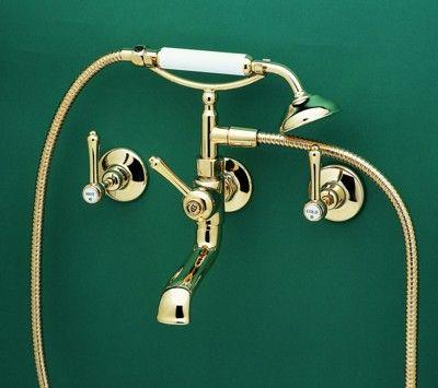 3 Piece Telephone Bathroom Tap Set - Roulette Lever