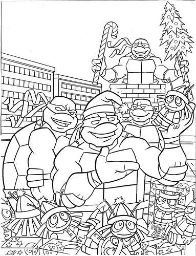 Tmnt Christmas Turtle Coloring Pages Ninja Turtle Coloring Pages Mermaid Coloring Pages